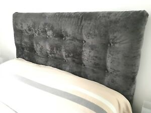 Gray Headboard and bedframe