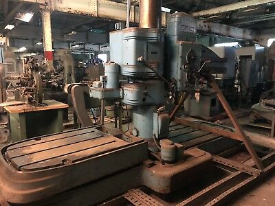 American Hole Wizard Radial Arm Drill 3 Table