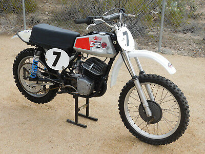 '73 CZ 250 CENTER PORT Vintage SOUTH BAY MX MotoCross Andres Works Perf. FALTA