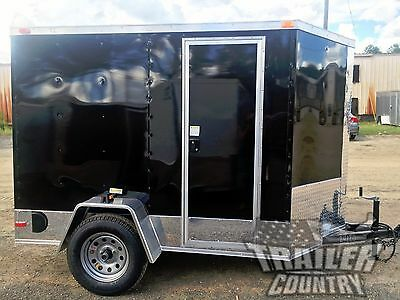 New 5x8 5 X 8 V-nose Enclosed Cargo Motorcycle Trailer Ramp Side Door Color