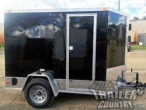 NEW 5x8 5 x 8 V-Nose Enclosed Cargo Motorcycle Trailer Ramp & Side Door + Color