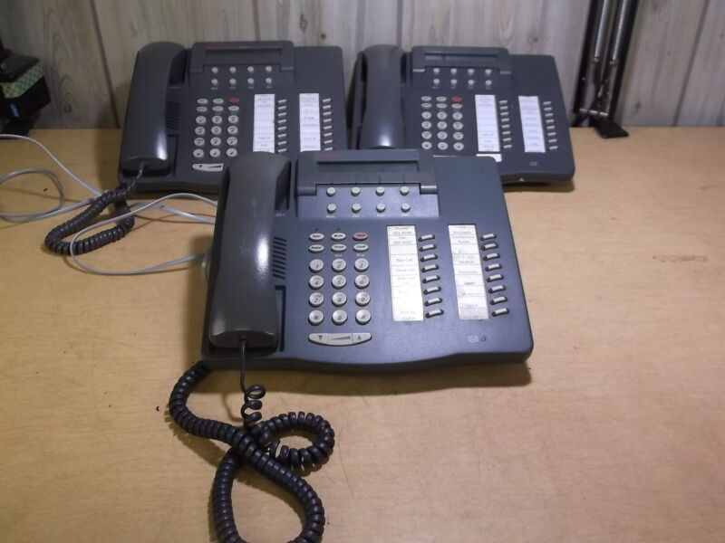 Avaya 6416D+ 108163817 Lot of 3 Charcoal Office Phones *FREE SHIPPING*