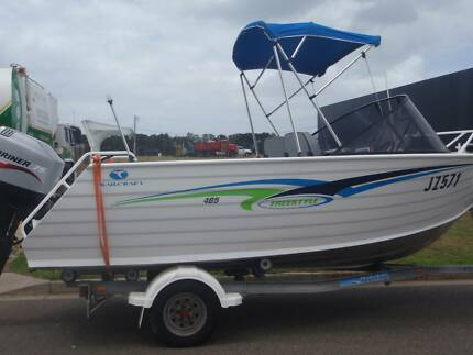 TRAILCRAFT 2005 4.85 FREESTYLE HD 4MM PLATE BOAT  75HP  4 STROKE