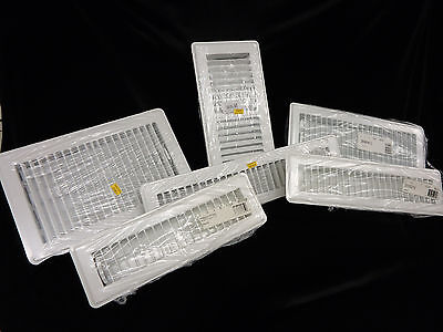 White Metal Floor Register Vent Diffuser Home,  Mobile Home, R.V., 6 Variations  White Floor Diffuser