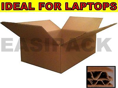 100 x DOUBLE WALL Heavy Duty Strong Laptop Postal Cardboard Boxes 19