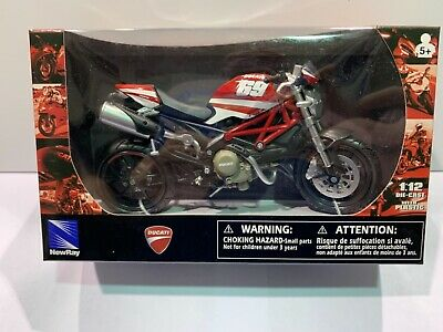 NEW NEWRAY 1:12 DIECAST WITH PLASTIC MODELS - DUCATI MONSTER 69 MOTORBIKE
