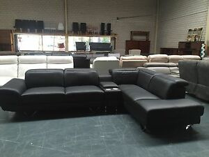 BRAND NEW LEATHER LOUNGE - ELEMENT Leumeah Campbelltown Area Preview