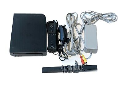 Original NINTENDO Wii game console RVL-101 Black Tested