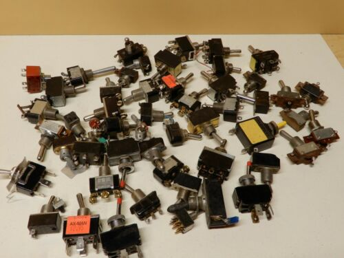 Huge Lot Of New and Used Toggle Switches Lots of Variety Around 50