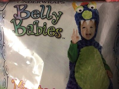 Underwraps Blue Belly Babies Monster Costume, 2T 3T 4T, Toddler Halloween Large (2t Monster Costume)
