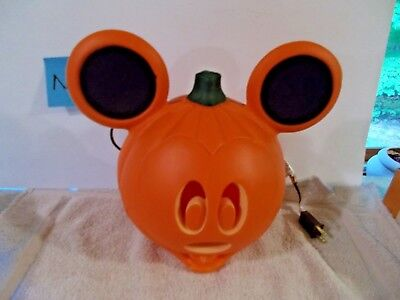 Disney Mickey Mouse Blow Mold Light Up Plastic Halloween Pumpkin Decoration NEW