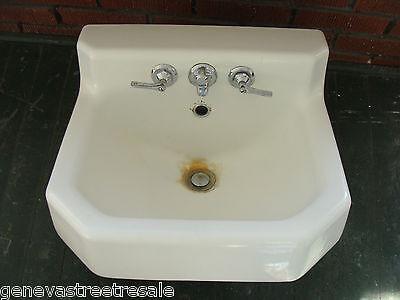 Vintage 1950S KOHLER White Cast Iron Porcelain Sink bathroom plumbing