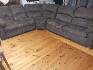 5 seater brown modular corner lounge Rosewater Port Adelaide Area Preview