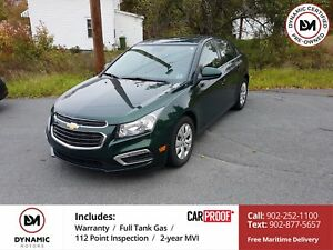 2015 Chevrolet Cruze 1LT NEW TIRES!! OWN FOR $115 B/W, 0 DOWN...