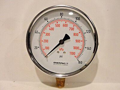 Enerpac Pressure Gauge Dual 0-160 Psi 0-1100 Kpa Bottom Mount