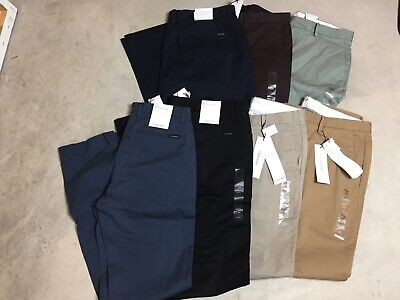 mens calvin klein the redefined stretch chino slim fit pants all color & sizes