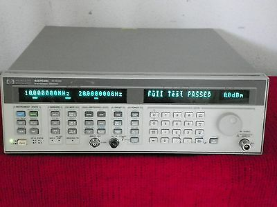 Agilent Hp 83752b Opt1e1 1ed .01-20 Ghz Synthesized Sweeper Cal Data 517