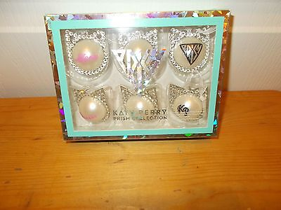 KATY PERRY Prism Collection Mini- CHRISTMAS ORNAMENTS--Box of 6 NIB