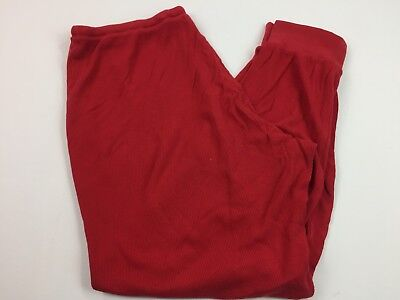Thermal Drawstring Pajama Pants (Sleep Sense Women's Red Thermal PJs Pants Size L Pajama Elastic Cuffs)