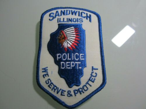 SANDWICH IL  POLICE PATCH