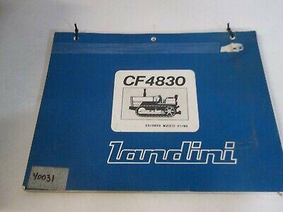 Landini Cf4830 Crawlerdozer Parts Book
