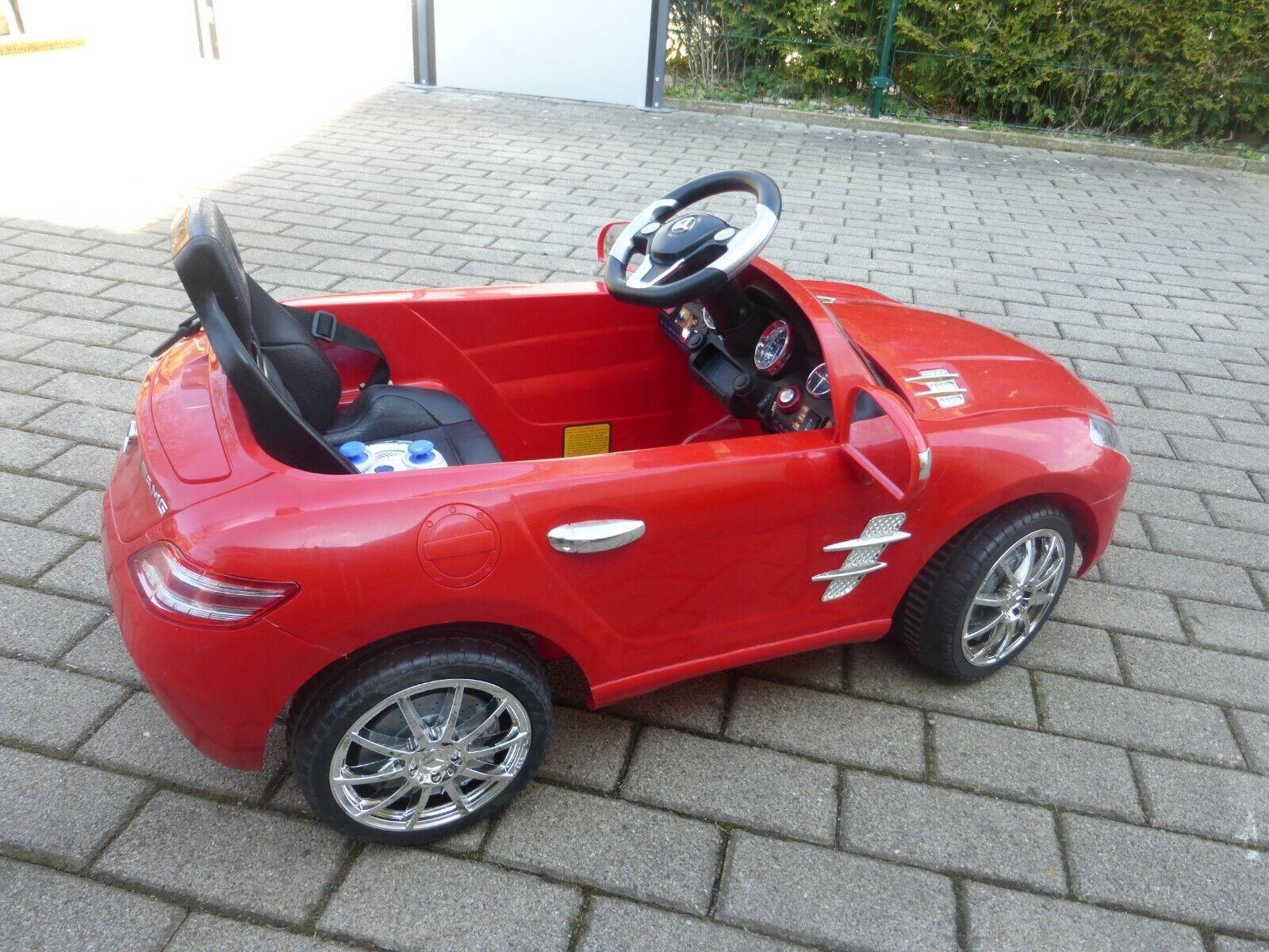 Kinderauto Elektroauto Mercedes Sound Hupe LED Scheinwerfer 6 V , Fernbedienung