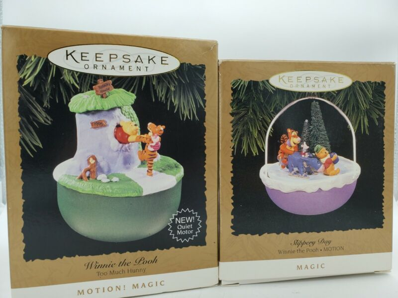 Hallmark Keepsake Winnie The Pooh Ornaments Magic Slippery Day Too Much Honey