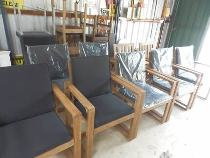 NEW TIMBER OUTDOOR CHAIRS SHADOW2 - EX DISPLAY LESS THAN 1/2 $$ Evanston Park Gawler Area Preview