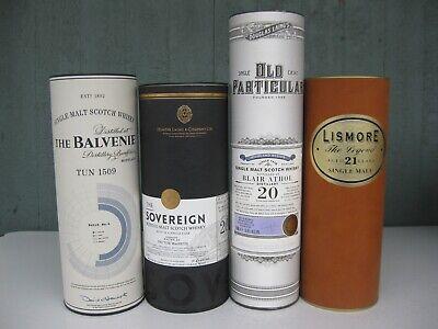 4 Single Malt Scotch Canisters Only: Balvenie Sovereign Old Particular (Old Single Malt Scotch)