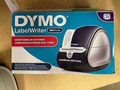 Tested Dymo Labelwriter 450 Turbo Label Thermal Printer -w Power Usb Cables