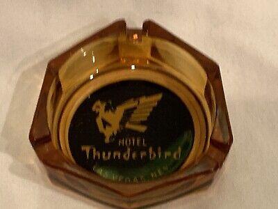 Thunderbird Hotel Casino Las Vegas Vintage Ashtray Amber