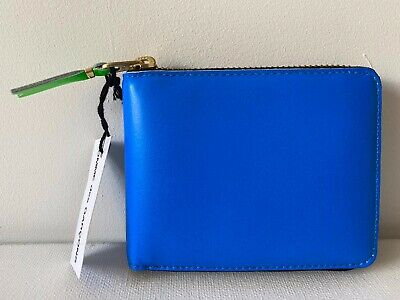 Comme Des Garçons Leather Wallet Model SA7100SF in Blue BNIB $149 33% OFF