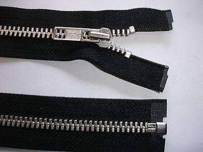 RV396 Reißverschluß YKK schwarz 74cm lang, 1 Stück