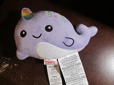 NEW Iscream mini Narwhal pillow plush unicorn 9