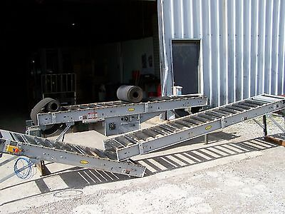 Hytrol 190-rb Roller Bed Type Powered 18 Wide Belt Conveyor 28 Oal X 24 Oaw