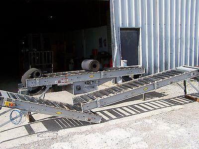 Hytrol 190-rb Roller Bed Type Powered 18 Wide Belt Conveyor 28 Oal X 24 Oaw