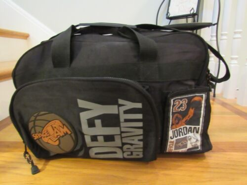 Vintage Space Jam Defy Gravity Official Gear Duffel Bag Michael Jordan Warner Br