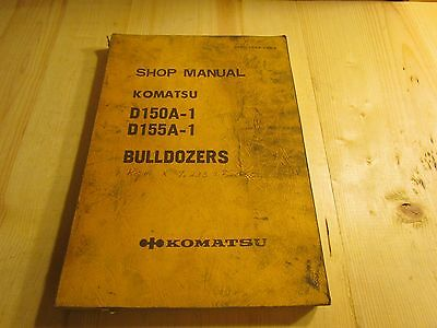 Komatsu D150a-1 D155a-1 Bulldozer Shop Manual D150.155a.1.be4