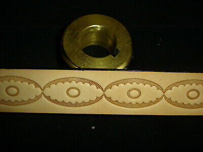 Leather Embossing Machine Roll OVAL and ROUND CENTER pattern Solid Brass
