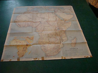"Original NATIONAL GEOGRAPHIC MAP: 1943 AFRICA 29 x 31"" taped edges as shown"