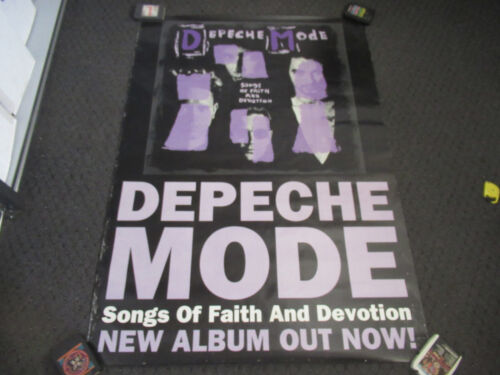 VINTAGE LARGE DEPECHE MODE SONGS OF FAITH AND DEVOTION 42 X 59 POSTER PROMO