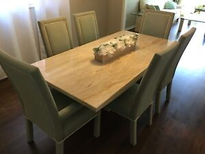 Travertine Marble Dinning Table