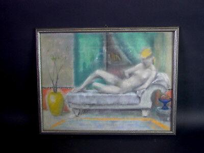 Mädchen AKT - 1920er/1930er Jahre - Pastell Kreide