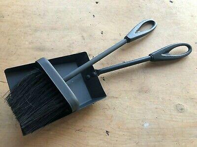 Chimenea Abierta Fuego Carbón Pala Y Cepillo Negro Recogedor Cenizas Estufa Leña