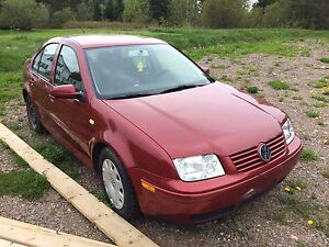 1999 VW Jetta (blown up) with new tires