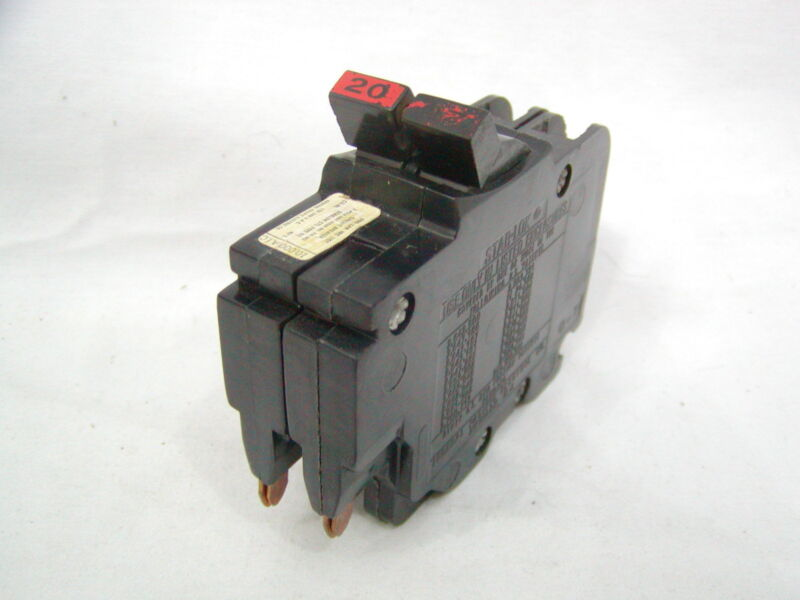 Federal Pacific 20 Amp 2 pole Thin Circuit Breaker Stab Lok FPE