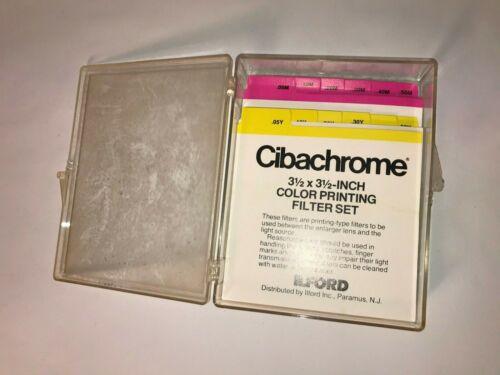 "Ilford Cibachrome - 3.5"" x 3.5"" Color Filter Printing Set"