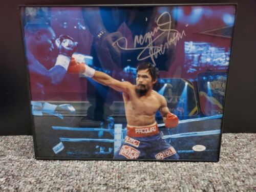 Manny Pacquiao Signed 16x20 Photo. COA by JSA.