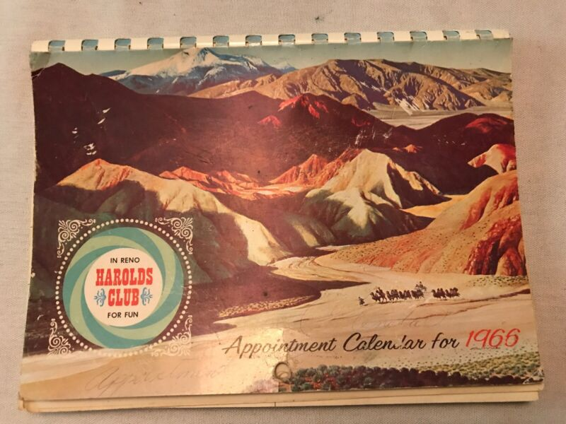1966 HAROLD'S CLUB Appointment Calendar, RENO, NEVADA