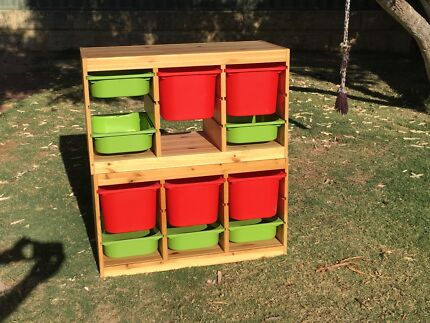 Ikea Trofast Storage Units (2) with 11 Containers